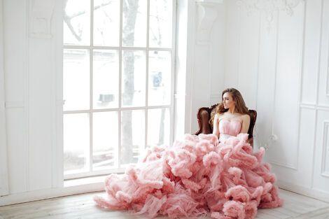 Платья Платье Нежно-розовое Облако напрокат | Аренда и прокат – Москва