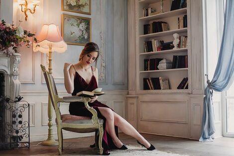 Платья Бордовое бархатное платье напрокат | Аренда и прокат – Санкт-Петербург