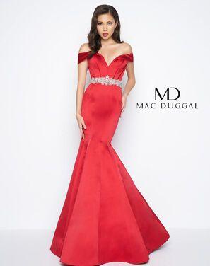 Платья Вечернее платье Mac Duqqal красное напрокат | Аренда и прокат – Санкт-Петербург