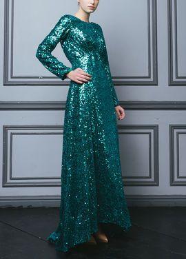 Платья Платье изумруд ткань Dolce&Gabbana напрокат | Аренда и прокат – Москва