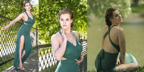 Платья Изумрудное платье в пол напрокат | Аренда и прокат – Санкт-Петербург