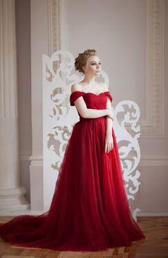 Платья Бордовое платье со шлейфом напрокат | Аренда и прокат – Санкт-Петербург