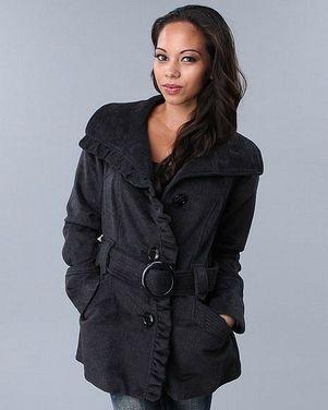 Верхняя одежда Пальто серое с поясом напрокат | Аренда и прокат – Москва