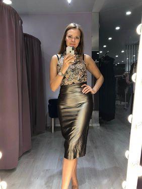 Платья Миди юбка кожа, лиф бисер напрокат | Аренда и прокат – Санкт-Петербург