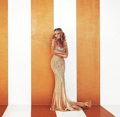Платья Золотистое вечернее платье напрокат | Аренда и прокат – Санкт-Петербург