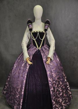 Исторические костюмы Платье 16 века Фиолетовое напрокат | Аренда и прокат – Москва