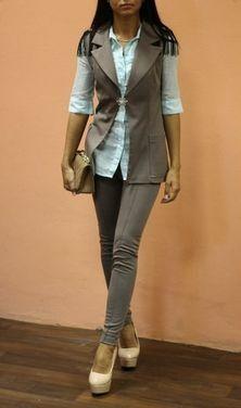 Костюмы Костюм коричневый пиджак легинсы напрокат | Аренда и прокат – Москва