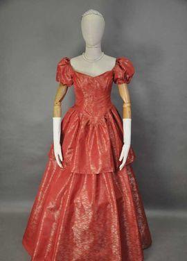 Исторические костюмы Бальное платье 19 века Терракотовое напрокат | Аренда и прокат – Москва