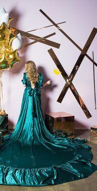 Платья Изумрудное платье для беременной  напрокат | Аренда и прокат – Санкт-Петербург