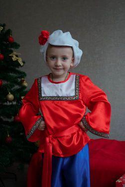 Национальные Народная рубашка красная напрокат | Аренда и прокат – Санкт-Петербург