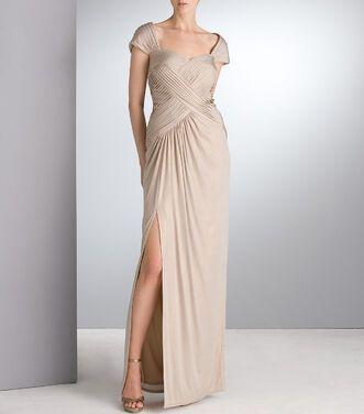 Платья Tadashi Shoji , Gold Long Gown  напрокат | Аренда и прокат – Москва