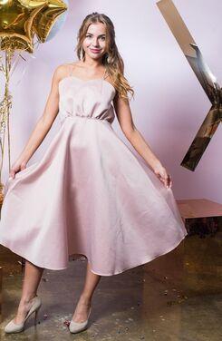 Платья Нежно-розовое платье с юбкой-солнце напрокат | Аренда и прокат – Санкт-Петербург