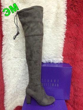 Обувь Серые замшевые ботфорты на каблуке напрокат | Аренда и прокат – Москва