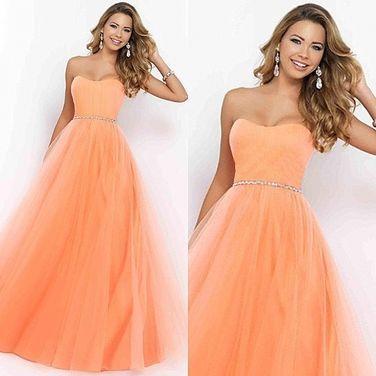 Платья Вечернее пышное персиковое платье напрокат   Аренда и прокат – Москва