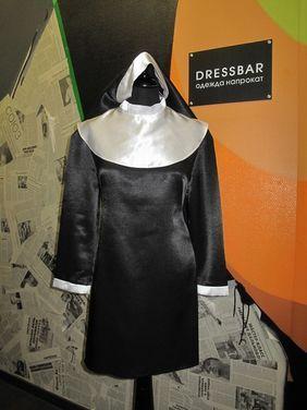 Униформа МОНАШКА mini (платье, головной убор напрокат | Аренда и прокат – Москва