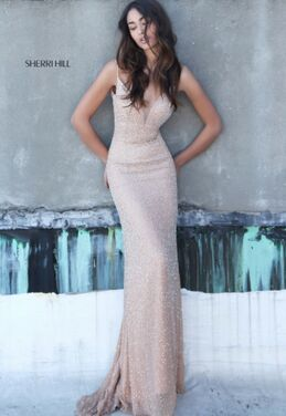 Платья Золотое платье Sherri Hill 036 напрокат | Аренда и прокат – Москва