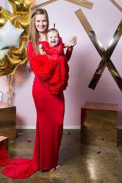 Платья Ярко-красный комплект мама+дочка напрокат | Аренда и прокат – Санкт-Петербург