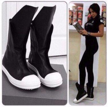 Обувь Черные кеды ботинки кожаные напрокат | Аренда и прокат – Москва