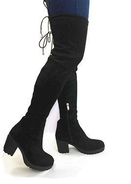 Обувь Ботфорты черные женские выше колена напрокат | Аренда и прокат – Москва