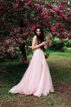 Платья Нежное пудрово-розовое платье напрокат | Аренда и прокат – Санкт-Петербург