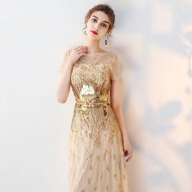 Платья Золотистое платье с пайетками  напрокат | Аренда и прокат – Санкт-Петербург
