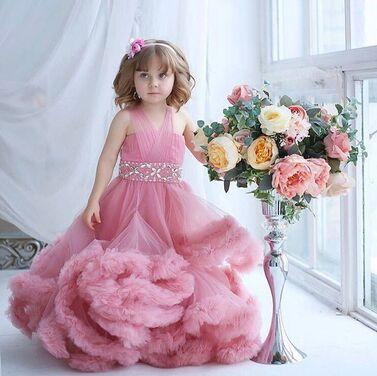 Платья и одежда для девочек Детское Платье Облако Нежно-розовог напрокат | Аренда и прокат – Москва