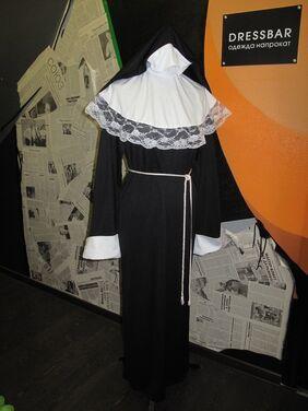 Униформа МОНАШКА maxi (платье, головной убор напрокат | Аренда и прокат – Москва
