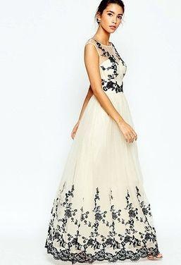 Платья Вечернее кремовое платье Chi Chi напрокат | Аренда и прокат – Москва