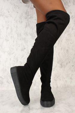 Обувь Сапоги черные на плоской подошве напрокат | Аренда и прокат – Москва