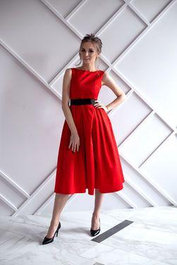 Платья Красное плотный атлас миди стиль Ди напрокат | Аренда и прокат – Санкт-Петербург