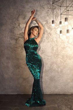 Платья Платье в зеленых пайетках  напрокат | Аренда и прокат – Санкт-Петербург