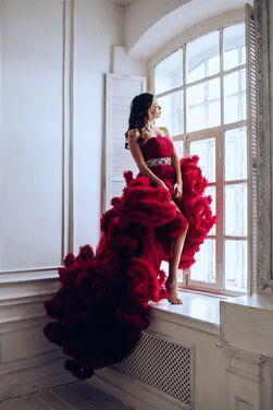 Платья Платье Бордовое облако  напрокат | Аренда и прокат – Нижний Новгород