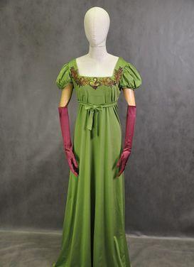 Исторические костюмы Платье в стиле ампир зеленое напрокат | Аренда и прокат – Москва