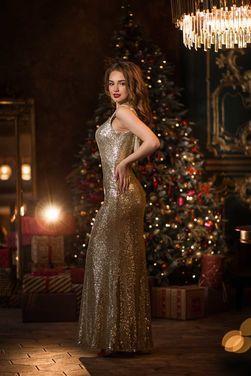 Платья Вечернее платье в пайетках в пол напрокат | Аренда и прокат – Санкт-Петербург