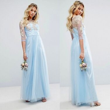 Платья Вечернее голубое платье Chi Chi напрокат | Аренда и прокат – Москва