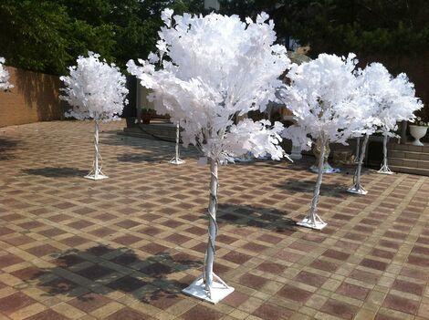 Фотозоны и задники Дерево Белое декоративное напрокат | Аренда и прокат – Москва
