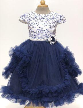 Платья и одежда для девочек Платье бальное синее напрокат | Аренда и прокат – Пермь