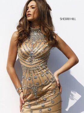 Платья Золотое платье Sherri Hill 028 напрокат | Аренда и прокат – Москва