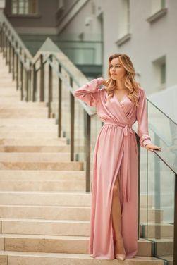 Платья Платье-халат розовое напрокат | Аренда и прокат – Санкт-Петербург