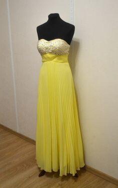 Платья Жёлтое вечернее платье напрокат | Аренда и прокат – Самара