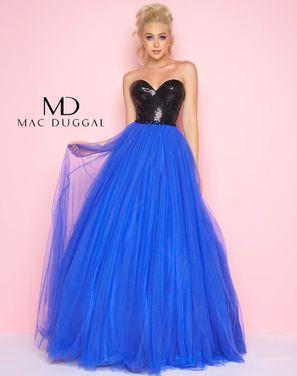 Платья Вечернее платье Mac Duqqal синее напрокат | Аренда и прокат – Санкт-Петербург