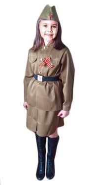 Униформа Военный костюм для девочки напрокат | Аренда и прокат – Санкт-Петербург