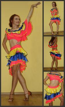 Танцевальные костюмы Платье для латины напрокат   Аренда и прокат – Москва