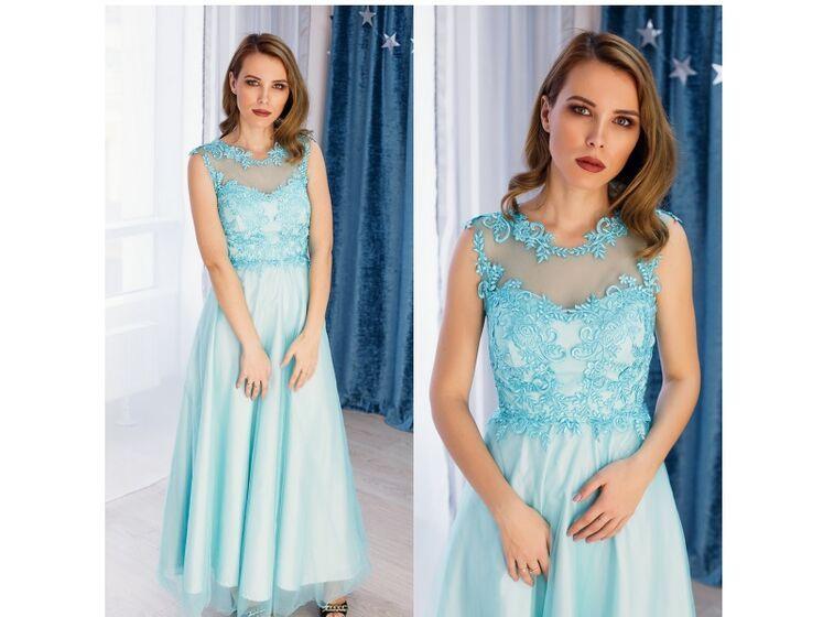 f76723160a5 Взять в АРЕНДУ Платье Красивое бирюзовое платье в пол. Цена - 3000 р ...