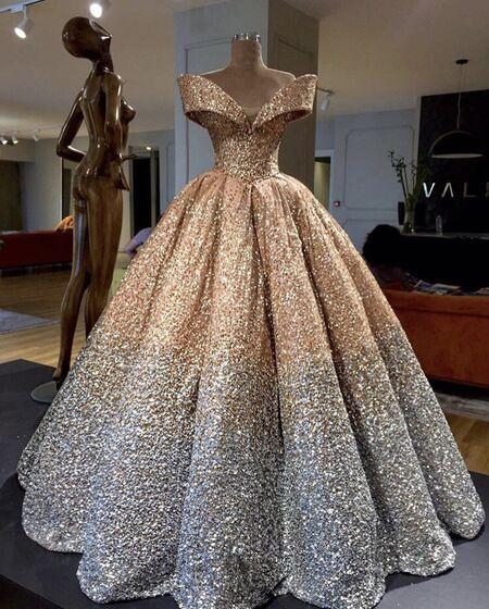 6d669325e3e83ff Взять в АРЕНДУ Платье Пышное вечернее платье с блестками . Цена ...