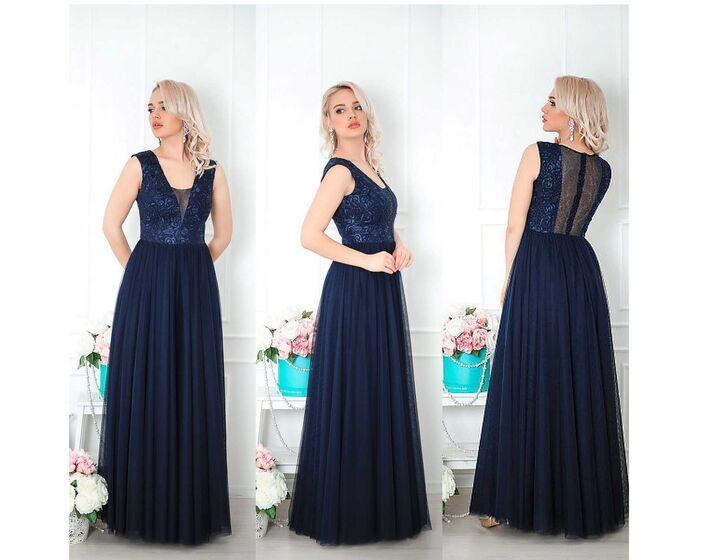 0883b124357 АРЕНДА- Платье Шикарное темно-синее платье в пол. Цена - 3500 р. за ...