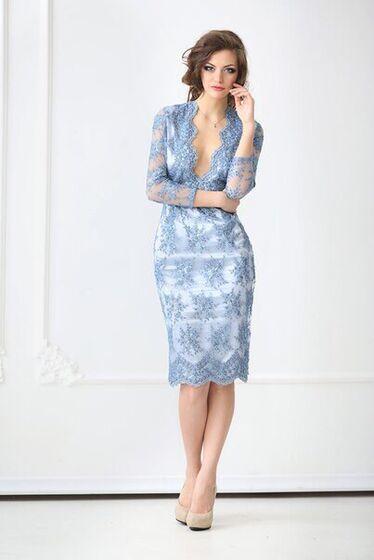 e4234fc2079 АРЕНДОВАТЬ Платье Голубое коктейльное платье 167. Цена - 5000 р. за ...