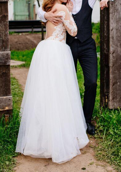 09a11385365 17 просмотров в этом месяце. 17 просмотров в этом месяце. Нежное свадебное  платье. Платья. 5000 руб.   3 дня